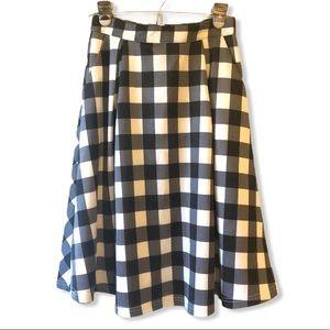 Lucy Paris Buffalo Plaid Full Skirt—S